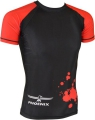 PHOENIX Rashguard krekls ar īsām rokām melns/pelēks/sarkans