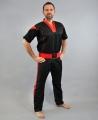 PHOENIX Pointfighting uniforma melna/sarkana (W)