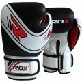 RDX Leather-X Kids Training boksa cimdi melni/balti/sarkani