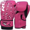 RDX Leather-X Kids J-3 boksa cimdi bērniem rozā