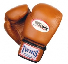 Twins Retro ādas boksa cimdi brūni