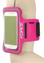Force telefona turētājs uz rokas rozā