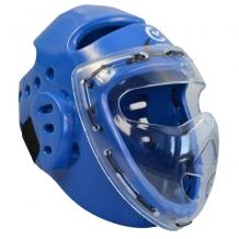 Wacoku Taekwondo ķivere ar aizsargstiklu zila (W)