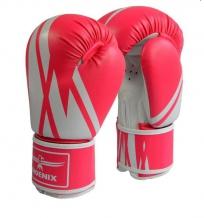 Phoenix boksa cimdi rozā/balti