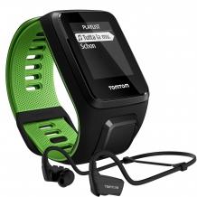 TomTom Runner 3 Cardio+Music+HP melns/zaļš (L) pulsometrs (1RKM.001.10)