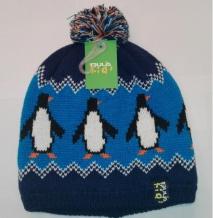 Bula Pingu zila bērnu cepure ar pingvīniem (X)