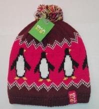 Bula Pingu plūmju krāsas bērnu cepure ar pingvīniem (X)