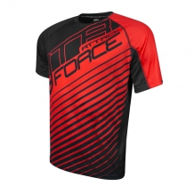 FORCE MTB ATTACK velo krekls sarkans/melns