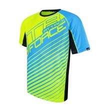 FORCE MTB ATTACK velo krekls elektrozaļš/zils
