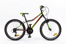Kenzel Roxis SF velosipēds Zēnu melns/zaļš/sarkans