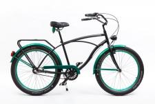 Kenzel Cubicon kruīza velosipēds melns/zaļš