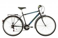 Kenzel Trekking 900 velosipēds melns/zaļš/zils