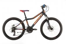 Kenzel Vulcano 300 zēnu velosipēds melns/oranžs