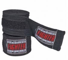 Fighter kokvilnas saites melnas