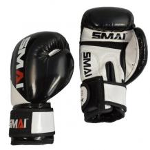 SMAI PU boksa cimdi bērniem balti/melni