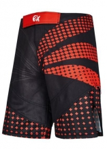 Phoenix MMA šorti melni/sarkani