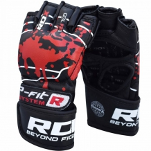 RDX Blood Double Strap GGL-F MMA cimdi melni