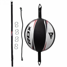 RDX Speed Double End Ball with Regular Rope ātrumbumba melna/baltaWHITE/RED WITH REGULAR ROPE