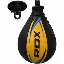 RDX Speed Ball ādas ātrumbumba melna/dzeltena/zila