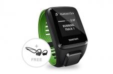 TomTom Runner 3 Music+HP L pulsometrs melns/zaļš (1RLM.001.10)