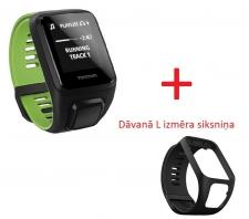 TomTom Runner 3 Cardio + Music Small pulsometrs melns/zaļš (1RKM.001.01) (X)