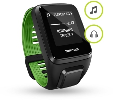 TomTom Runner 3 Music+HP S pulsometrs melns/zaļš (1RLM.001.11)