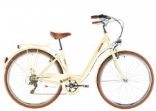 Kenzel Signora velosipēds retro kremkrāsa ar groziņu