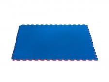 WKF Approved 100x100x2 cm tatami zils/sarkans (W)