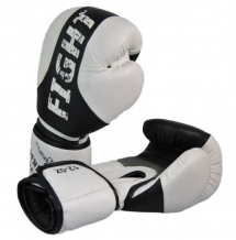 Phoenix ProTech Fight ādas boksa cimdi balti/melni